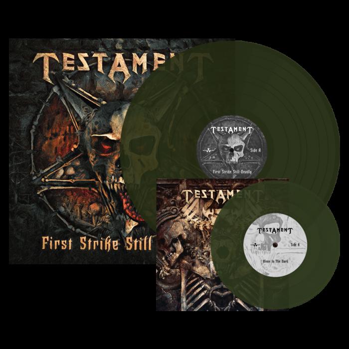 TESTAMENT - First Strike Still Deadly / Swamp Green LP + 7