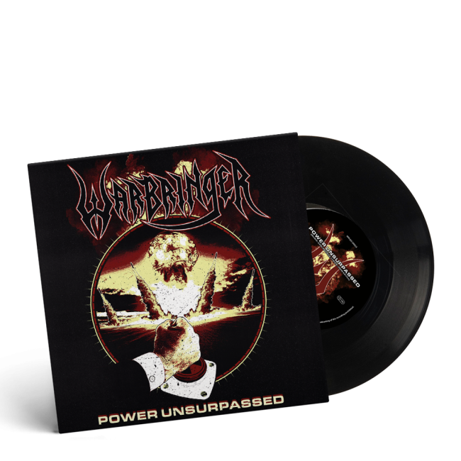 WARBRINGER-Power Unsurpassed/Limited Edition BLACK Vinyl 7 inch EP
