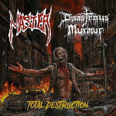 MASTER / DISASTROUS MURMUR - Total Destruction / BLACK Split 7 Inch