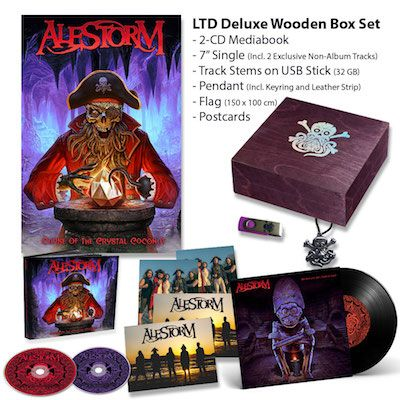 ALESTORM - Curse Of The Crystal Coconut / Limited Edition Deluxe Wooden BOXSET