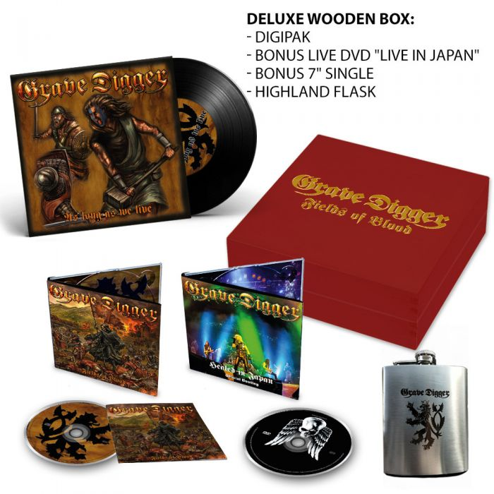 GRAVE DIGGER - Fields Of Blood / Deluxe Wooden Boxset