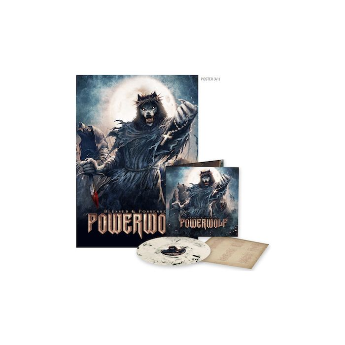 POWERWOLF - Blessed And Possessed / LIMITED EDITION CREAM BLACK MARBLE LP