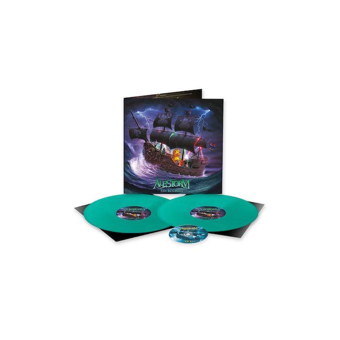 ALESTORM - Live in Tilburg / LIMITED EDITION MINT GREEN 2LP + DVD