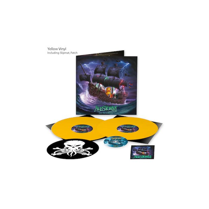 ALESTORM - Live in Tilburg / LIMITED DIEHARD EDITION YELLOW 2LP + DVD WITH PATCH + SLIPMAT Pre-Order Release Date 5/28/21