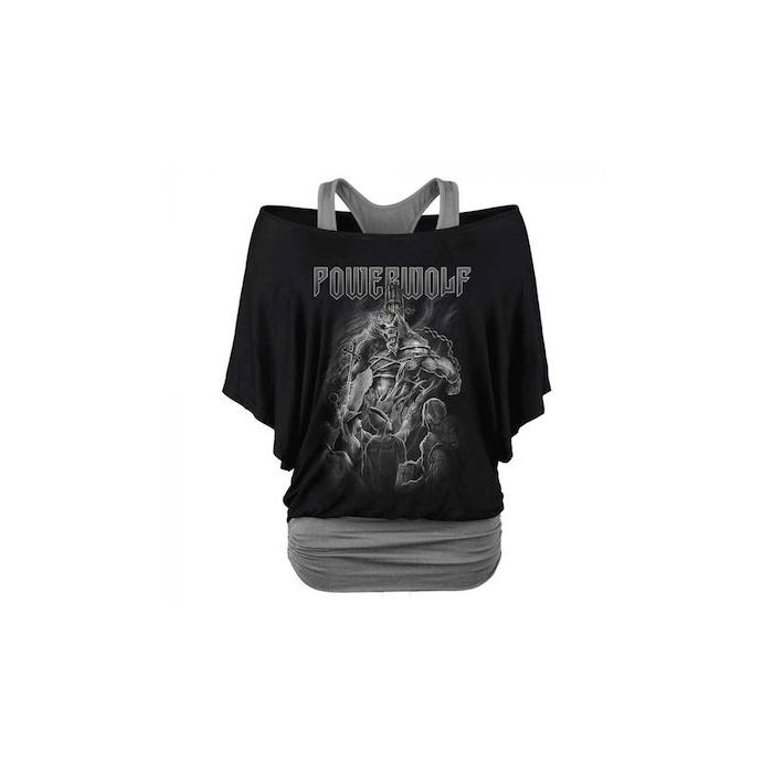POWERWOLF - Faster Than The Flame / Woman's Double Layer Shirt PRE-ORDER RELEASE DATE 7/16/21