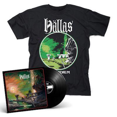 HÄLLAS - Conundrum / BLACK LP + T-Shirt Bundle
