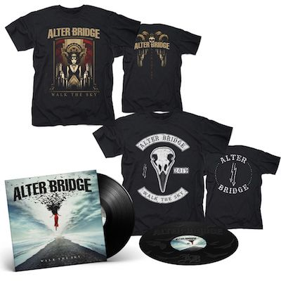 ALTER BRIDGE - Walk The Sky / BLACK 2LP + Walk The Sky T-Shirt + Bird T-Shirt Bundle
