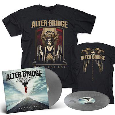 ALTER BRIDGE - Walk The Sky / Limited Edition Silver 2LP + Walk The Sky T-Shirt Bundle