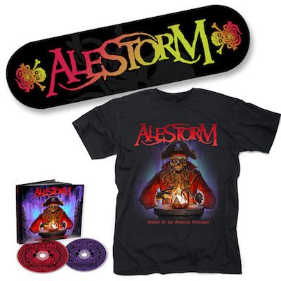 ALESTORM - Curse Of The Crystal Coconut / 2CD Mediabook + T-Shirt + Skateboard Bundle