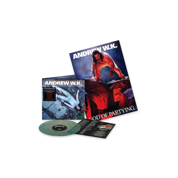 ANDREW W.K. - God Is Partying / NAPALM EXCLUSIVE LIMITED EDITION MARBLE GREEN LP W/ POSTER