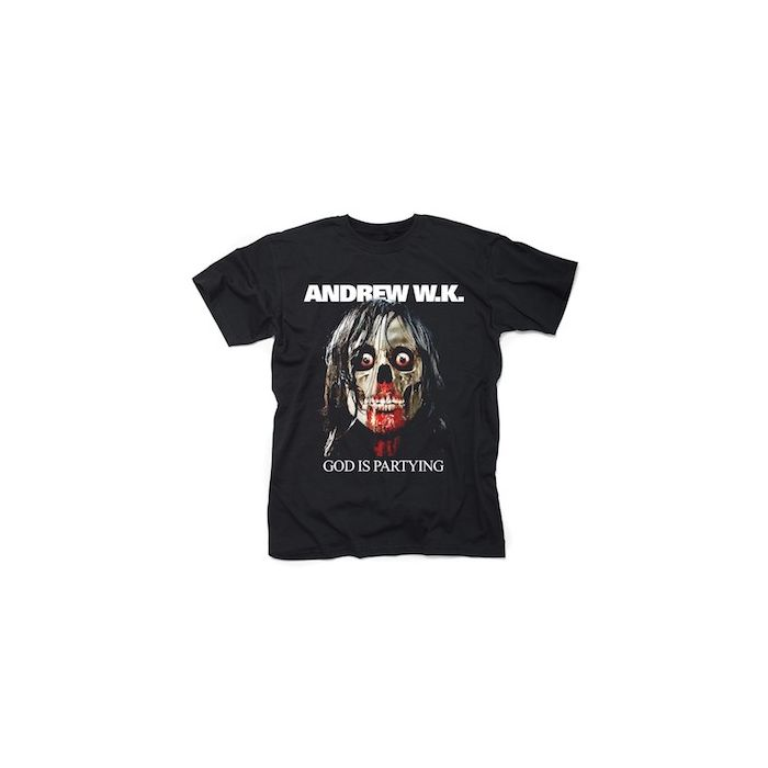 ANDREW W.K. - Party God / T-Shirt PRE-ORDER RELEASE DATE 9/10/21