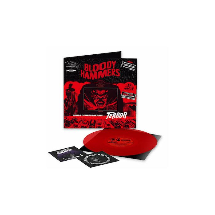 BLOODY HAMMERS - Songs Of Unspeakable Terror / NAPALM USA EXCLUSIVE LIMITED EDITION DIEHARD RED LP + 2 PATCHES
