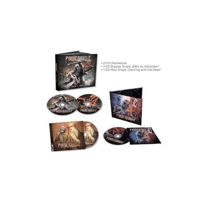 POWERWOLF - Call of the Wild / Mediabook 2CD + Dancing with the Dead CD + Bête du Gévaudan CD Bundle