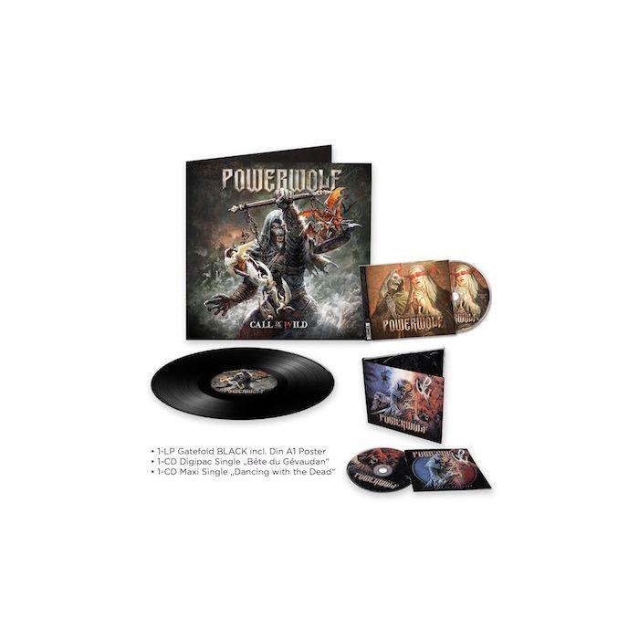 POWERWOLF - Call of the Wild / Black LP + Dancing with the Dead CD + Bête du Gévaudan CD Bundle