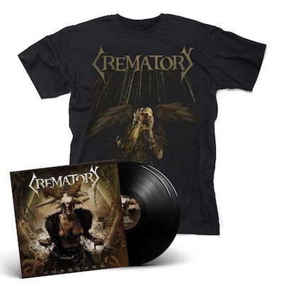 CREMATORY - Unbroken / BLACK 2LP Gatefold + T-Shirt Bundle