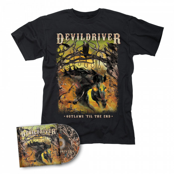 DEVILDRIVER-Outlaws 'Til The End Vol. I/CD + T-Shirt Bundle