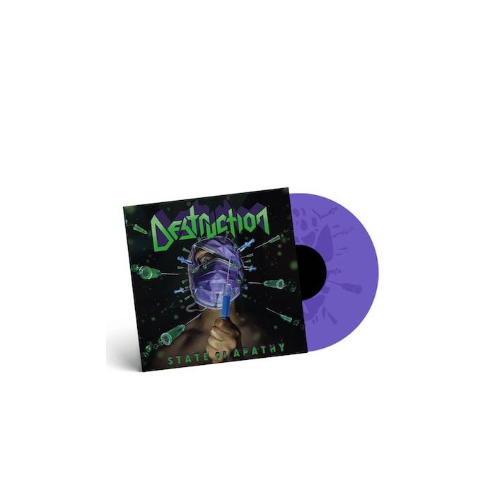 DESTRUCTION - State Of Apathy / LIMITED EDITION PURPLE 12 INCH SINGLE PRE ORDER RELEASE DATE 10/15/21