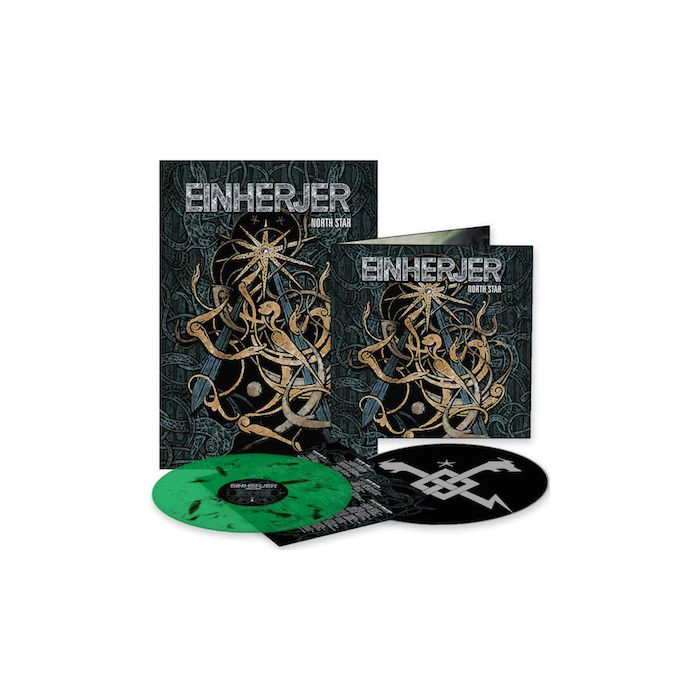 EINHERJER - North Star / LIMITED DIEHARD EDITION GREEN BLACK INKSPOT LP WITH SLIPMAT + POSTER