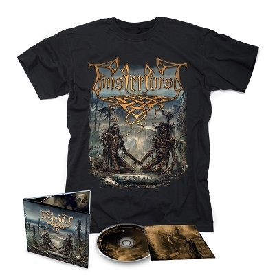 FINSTERFORST-Zerfall/Limited Edition Digipack CD + T-Shirt Bundle