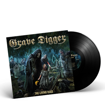 GRAVE DIGGER-The Living Dead/Limited Edition BLACK Vinyl Gatefold LP
