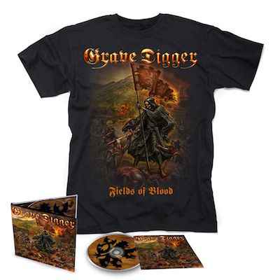 GRAVE DIGGER - Fields Of Blood / Digipak CD + T-Shirt Bundle