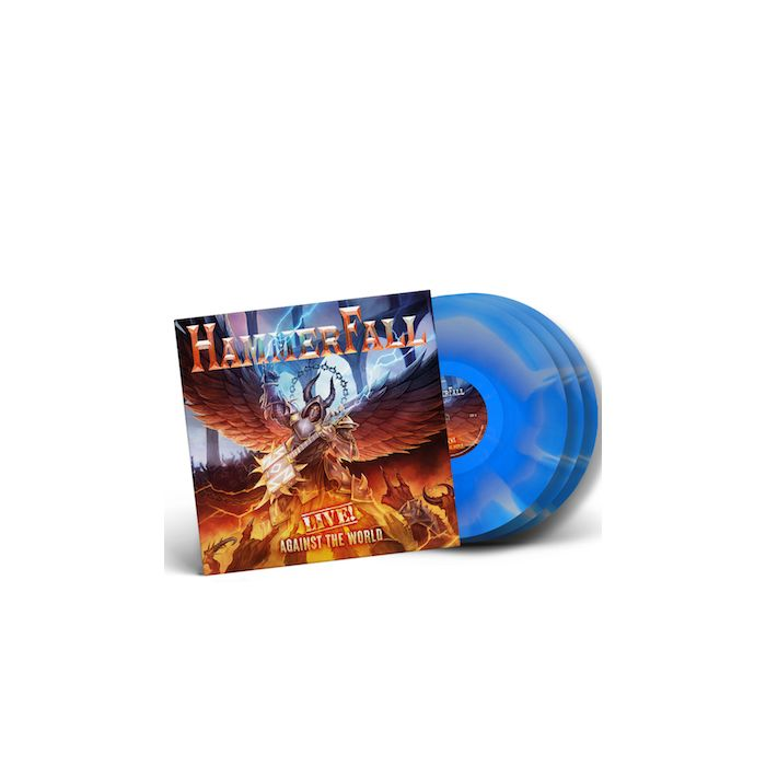 HAMMERFALL - Live! Against The World / LIMITED EDITION BLUE + WHITE INKSPOT 3LP