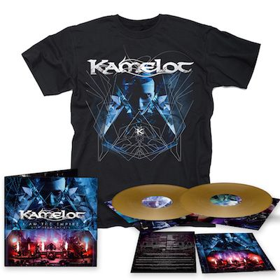 KAMELOT - I Am The Empire - Live From The 013 / LIMITED EDITION GOLD 2LP + DVD + T-Shirt Bundle