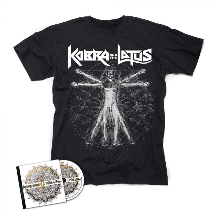 KOBRA AND THE LOTUS-Prevail I/CD + Vitruvian T-Shirt  BUNDLE