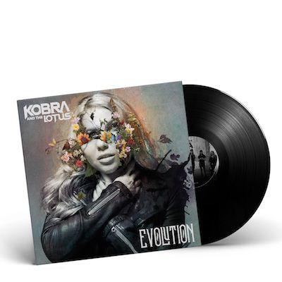 KOBRA AND THE LOTUS - Evolution / Black LP Gatefold