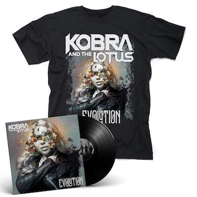 KOBRA AND THE LOTUS - Evolution / Black LP + T-Shirt Bundle
