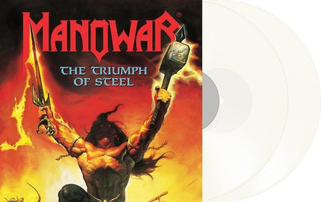 MANOWAR - The Triumph Of Steel / NAPALM RECORDS EXCLUSIVE Milky Clear 2LP