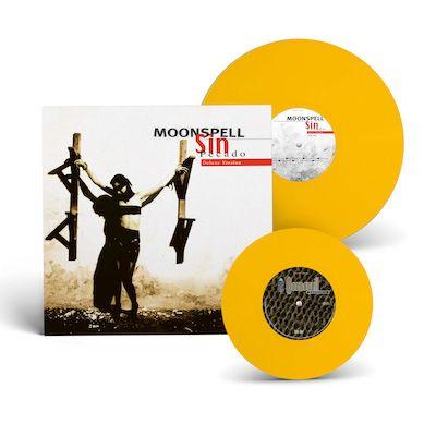 MOONSPELL - Sin/Pecado x 2nd Skin / YELLOW LP Gatefold + 7 Inch EP