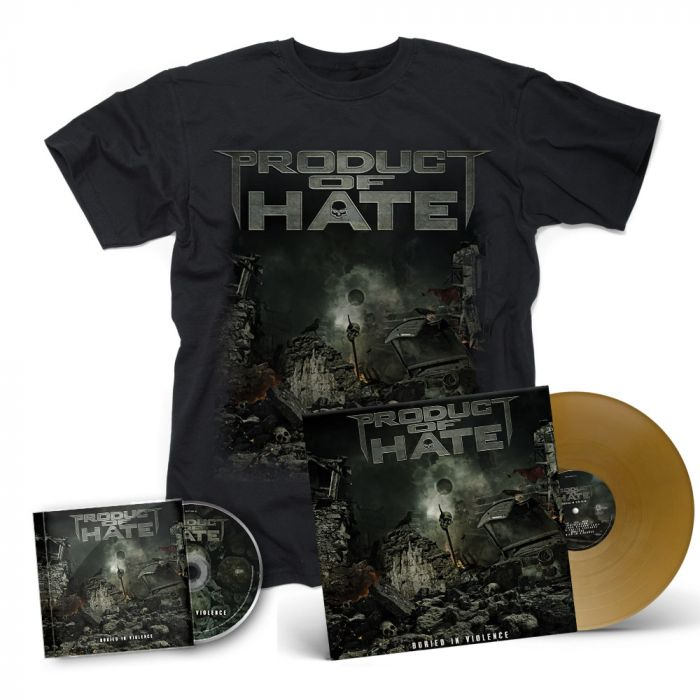 PRODUCT OF HATE-Buried In Violence/CD + T-Shirt + Vinyl Mega Bundle