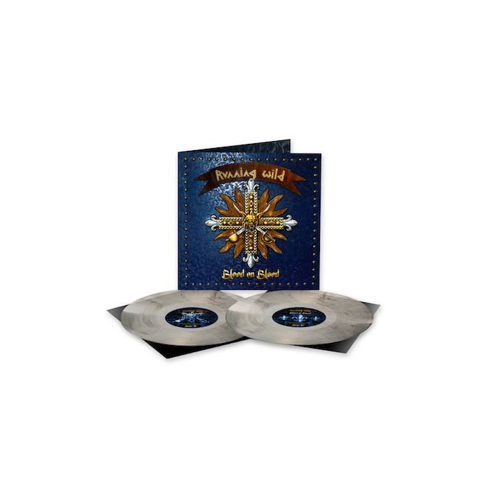 RUNNING WILD - Blood On Blood / NAPALM RECORDS EXCLUSIVE CLEAR BLACK MARBLE 2LP PRE-ORDER RELEASE DATE 10/29/2021