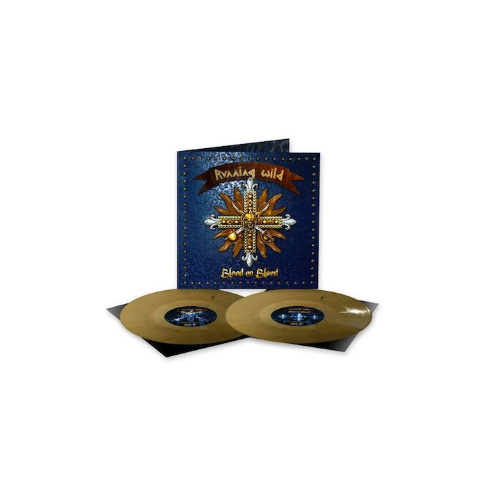 RUNNING WILD - Blood On Blood / NAPALM RECORDS EXCLUSIVE GOLD BLACK MARBLE 2LP PRE-ORDER RELEASE DATE 10/29/2021