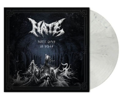 HATE - AURIC GATES OF VELES / NAPALM RECORDS EXCLUSIVE White Black Marble LP