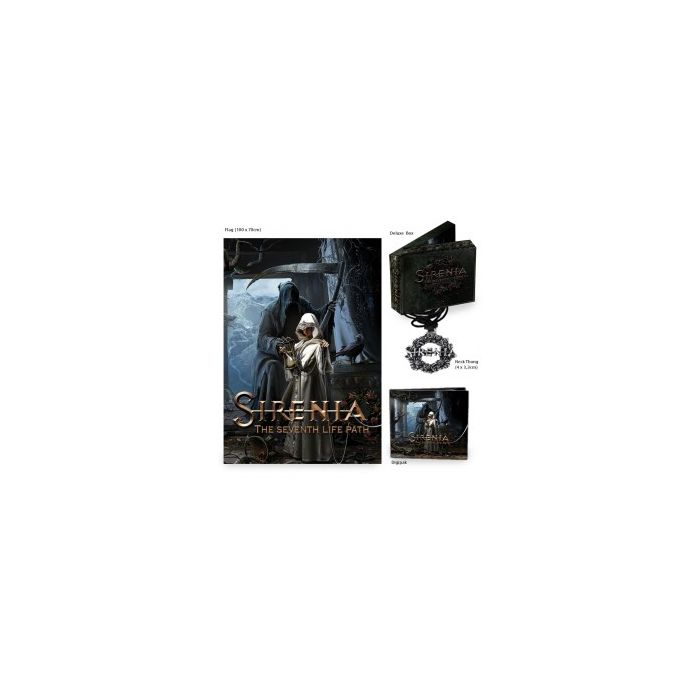 SIRENIA-The Seventh Life Path/Deluxe Box + Poster Flag + Pendant