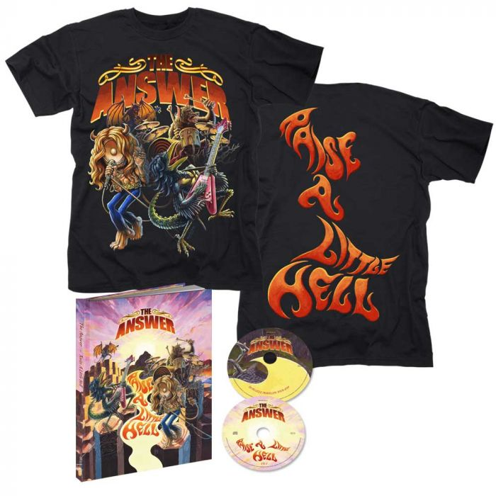 THE ANSWER-Raise A Little Hell/Digipack Limited Edition A5 Mediabook 2CD-Raise A Little Hell T-Shirt  Bundle