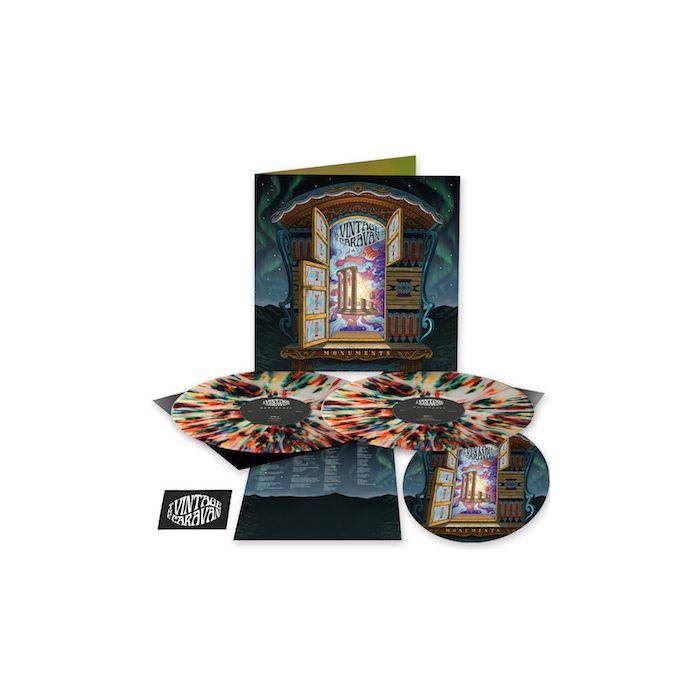 THE VINTAGE CARAVAN - Monuments / LIMITED DIEHARD EDITION MULTICOLOR SPLATTER 2LP W/ PATCH AND SLIPMAT