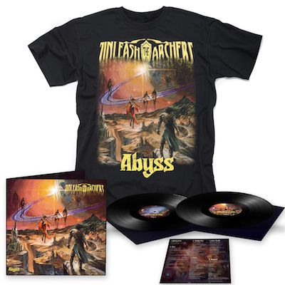 UNLEASH THE ARCHERS - Abyss / BLACK 2LP + T-Shirt Bundle