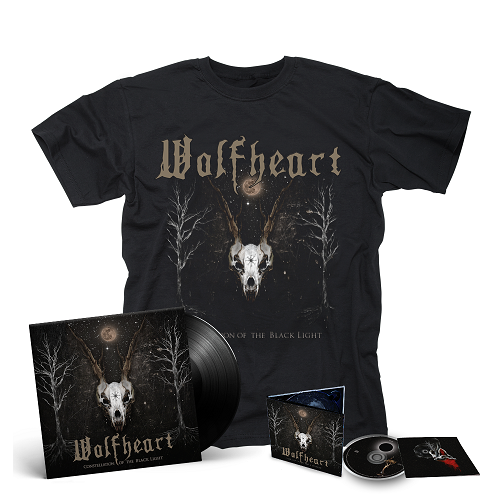 WOLFHEART-Constellation Of The Black Light/Limited Edition Digipack CD or BLACK Vinyl Gatefold LP + T-Shirt Bundle
