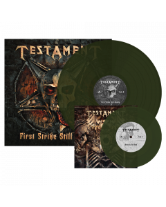 TESTAMENT - First Strike Still Deadly / Swamp Green LP + 7""