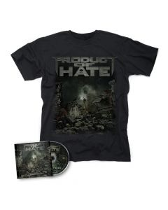 PRODUCT OF HATE-Buried In Violence/CD + T-Shirt Bundle