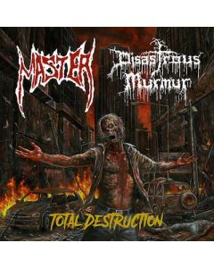 MASTER / DISASTROUS MURMUR - Total Destruction / BLACK Split 7 Inch