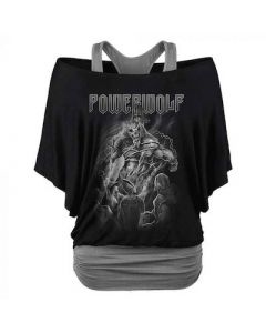 POWERWOLF - Faster Than The Flame / Woman's Double Layer Shirt PRE-ORDER RELEASE DATE 7/9/21