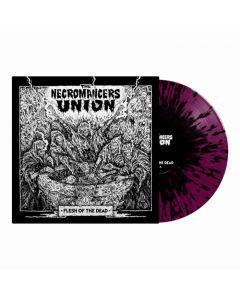 THE NECROMANCERS UNION - Flesh Of The Dead / LIMITED EDITION Purple Black Splatter LP PRE-ORDER RELEASE DATE 11/19/21