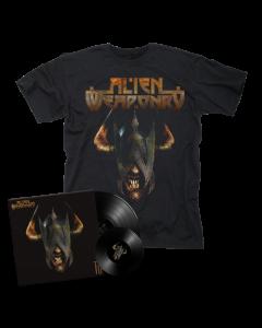 """ALIEN WEAPONRY-Tū/Limited Edition Black LP+7"""" + T-Shirt  BUNDLE"""