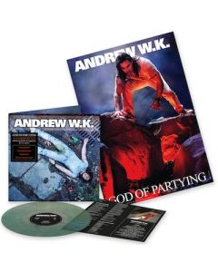 ANDREW W.K. - God Is Partying / NAPALM EXCLUSIVE LIMITED EDITION MARBLE GREEN LP W/ POSTER PRE-ORDER RELEASE DATE 9/10/21