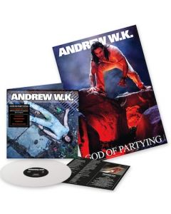 ANDREW W.K. - God Is Partying / FIRST EDITION WHITE LP W/ POSTER PRE-ORDER RELEASE DATE 9/10/21