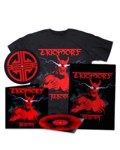 EKTOMORF - Reborn / LIMITED DIEHARD EDITION RED BLACK SPLATTER LP W/ SIGNED POSTER + SLIPMAT + T-SHIRT BUNDLE